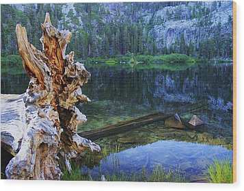 Wood Print featuring the photograph Dawn Arrives At Eagle Lake by Sean Sarsfield