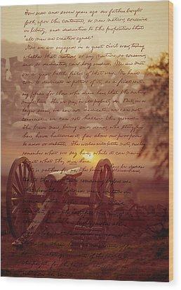 Dawn At Gettysburg Wood Print