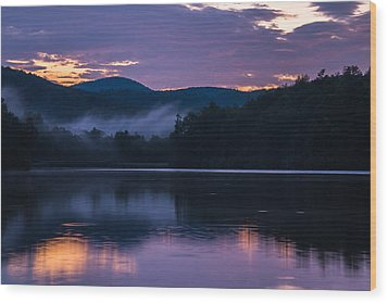 Dawn At Julian Price Lake Wood Print