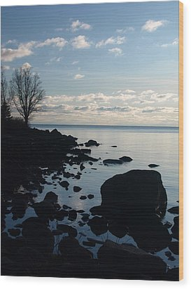 Wood Print featuring the photograph Dawn At The Cove by James Peterson