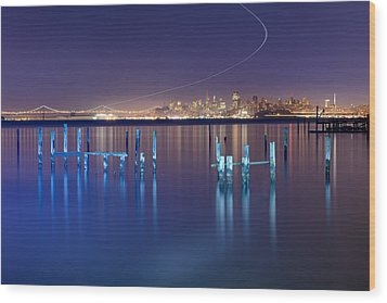 Dawn Colors - Sausalito Wood Print by David Yu