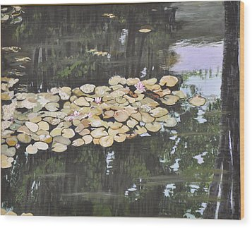 Wood Print featuring the painting Dawn by Dottie Branchreeves