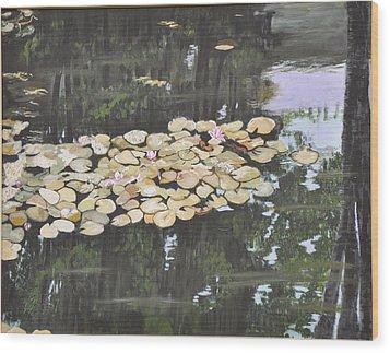 Dawn Wood Print by Dottie Branchreeves