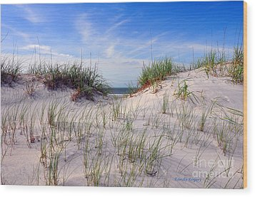 Dawn Dunes Wood Print