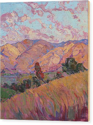 Dawn Hills - Right Panel Wood Print by Erin Hanson