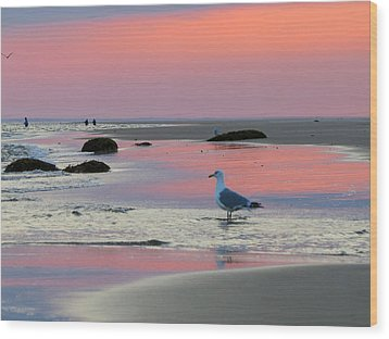 Wood Print featuring the photograph Dawn In Pink by Dianne Cowen