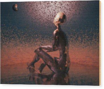 Wood Print featuring the digital art Dawn by John Alexander