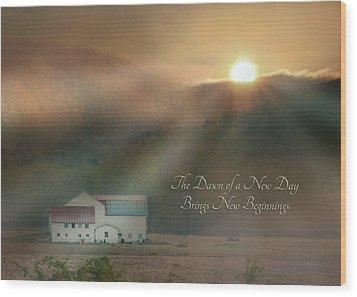 Dawn Wood Print by Lori Deiter