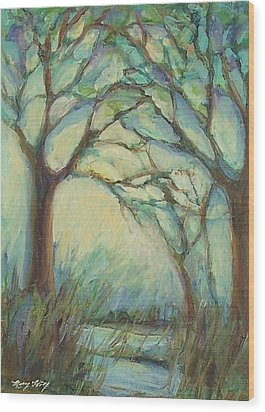 Dawn Wood Print by Mary Wolf