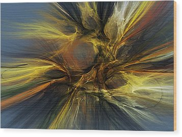 Wood Print featuring the digital art Dawn Of Enlightment by David Lane