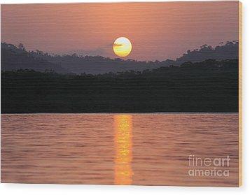 Dawn Over Darien Wood Print by James Brunker