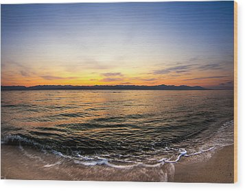 Dawn Over The Red Sea Wood Print by Mark E Tisdale