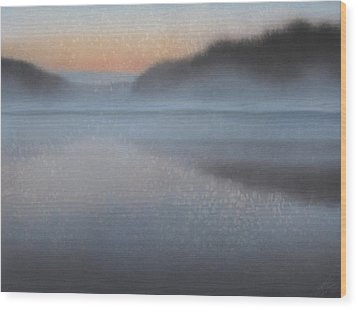 Dawn Parts The Mist Wood Print