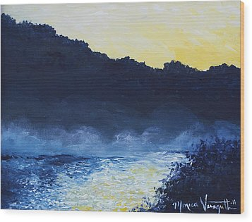 Dawn Reflections Wood Print by Monica Veraguth