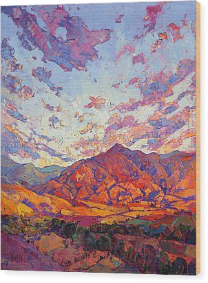 Dawn Rising Wood Print by Erin Hanson