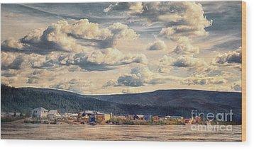 Dawson City Wood Print by Priska Wettstein
