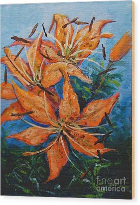 Day 21 Tiger Lily Wood Print