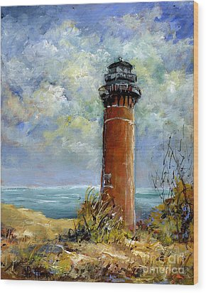 Little Au Sable Point Lighthouse Michigan Wood Print