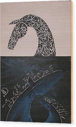 Day And Night Wood Print by Ali ArtDesign