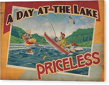 Day At The Lake Wood Print by JQ Licensing