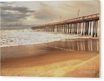Day At The Pier Large Canvas Art, Canvas Print, Large Art, Large Wall Decor, Home Decor, Photograph Wood Print by David Millenheft