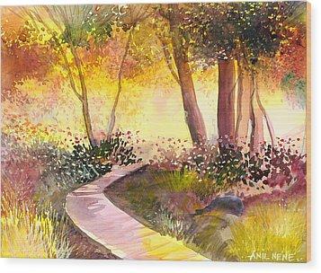Day Break Wood Print by Anil Nene