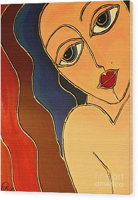 Wood Print featuring the painting Day Dream by Cynthia Snyder