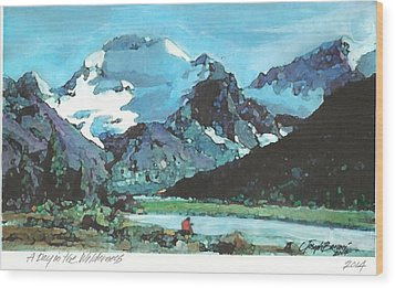 Day In The Wilderness Wood Print by Joseph Barani