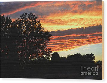 Day Is Done Wood Print by Luther   Fine Art