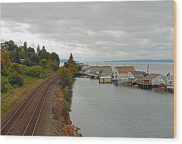 Wood Print featuring the photograph Day Island Bridge View 3 by Anthony Baatz