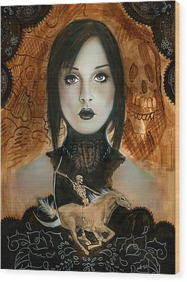 Day Of The Dead 2 Wood Print by Luis  Navarro