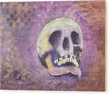 Wood Print featuring the digital art Day Of The Dead by Arline Wagner