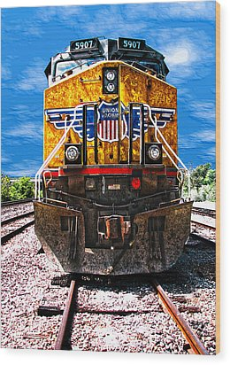 Day Train Wood Print by Wendy J St Christopher