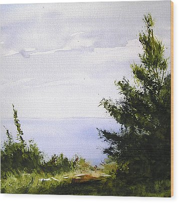 Daybreak Above Lake Superior Wood Print
