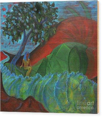 Uncertain Journey Wood Print by Elizabeth Fontaine-Barr