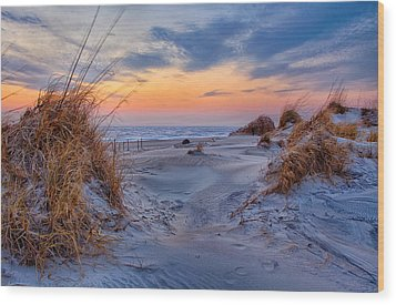 Daybreak On The Outer Banks 1 Wood Print