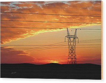 Daybreak On The Plains Wood Print