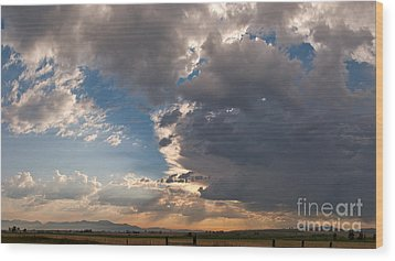 Wood Print featuring the photograph Daybreak Panorama by Charles Kozierok