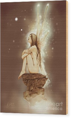 Daydreaming Faerie Wood Print by John Silver