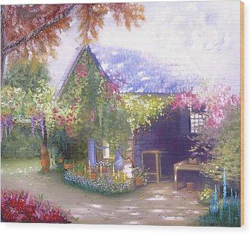 Daylesford Cottage Wood Print
