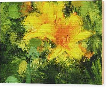Dayliles Wood Print