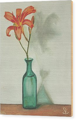 Daylily Wood Print by Sarah Lynch