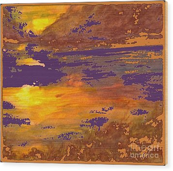 Days End Wood Print by Cindy McClung