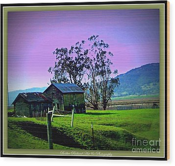 Wood Print featuring the photograph Days Gone By by Bobbee Rickard