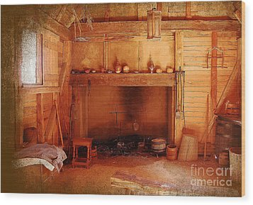 Wood Print featuring the photograph Days Gone By - Charles Town Landing by Kathy Baccari
