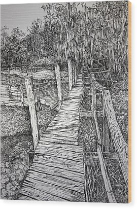 Days Gone By Wood Print by Janet Felts