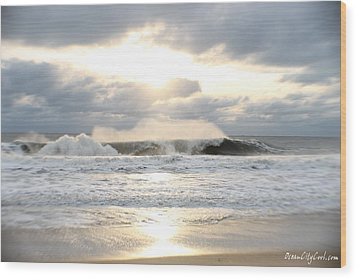 Day's Rolling Waves Wood Print