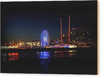 Wood Print featuring the photograph Daytona At Night by Laurie Perry