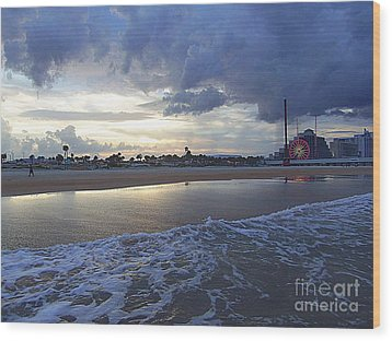 Wood Print featuring the photograph Daytona Evening by Jeanne Forsythe
