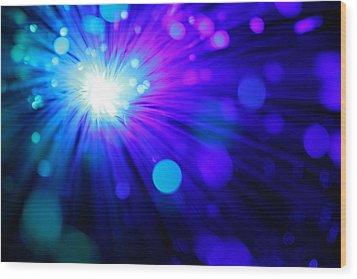 Dazzling Blue Wood Print by Dazzle Zazz